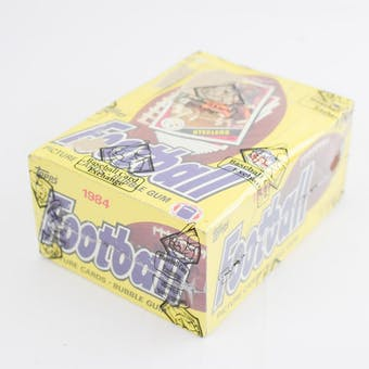 1984 Topps Football Wax Box (BBCE) (Reed Buy)