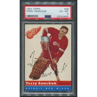 1954/55 Topps Hockey #58 Terry Sawchuk PSA 6 (EX-MT)