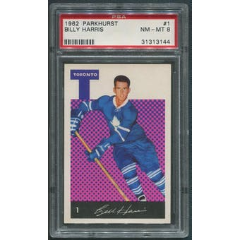 1962/63 Parkhurst Hockey #1 Billy Harris PSA 8 (NM-MT)