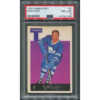 1962/63 Parkhurst Hockey #2 Dick Duff PSA 8 (NM-MT)