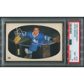1962/63 Parkhurst Hockey #16 Johnny Bower PSA 8 (NM-MT)