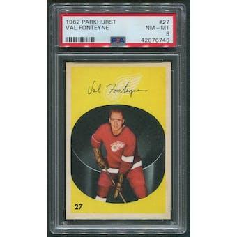 1962/63 Parkhurst Hockey #27 Val Fonteyne PSA 8 (NM-MT)