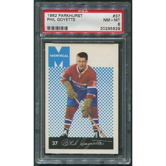 1962/63 Parkhurst Hockey #37 Phil Goyette PSA 8 (NM-MT)