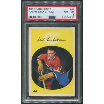 1962/63 Parkhurst Hockey #44 Ralph Backstrom PSA 8 (NM-MT)