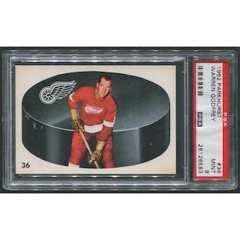 1962/63 Parkhurst Hockey #36 Warren Godfrey PSA 9 (MINT)