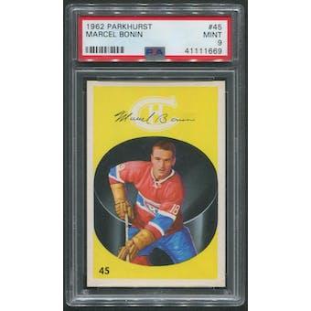 1962/63 Parkhurst Hockey #45 Marcel Bonin PSA 9 (MINT)