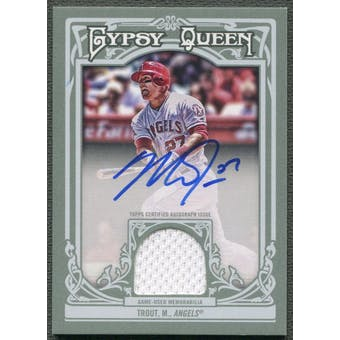 2013 Topps Gypsy Queen #MTR Mike Trout Jersey Auto #07/25