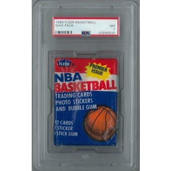 1986/87 Fleer Basketball Wax Pack PSA 7 (NM) *6930