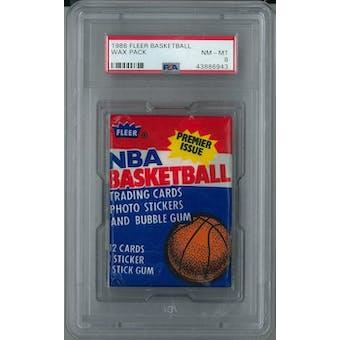 1986/87 Fleer Basketball Wax Pack PSA 8 (NM-MT) *6943