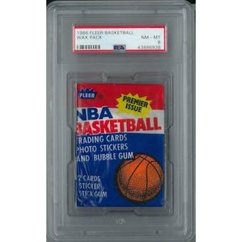 1986/87 Fleer Basketball Wax Pack PSA 8 (NM-MT) *6938