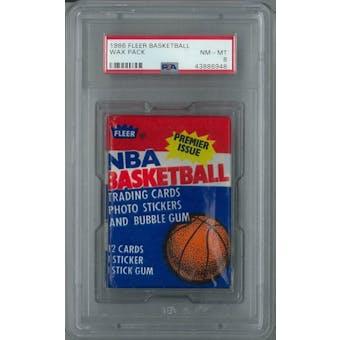 1986/87 Fleer Basketball Wax Pack PSA 8 (NM-MT) *6948