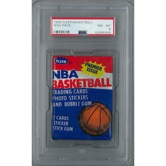 1986/87 Fleer Basketball Wax Pack PSA 8 (NM-MT) *6946