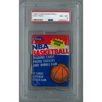 1986/87 Fleer Basketball Wax Pack PSA 8 (NM-MT) *6947