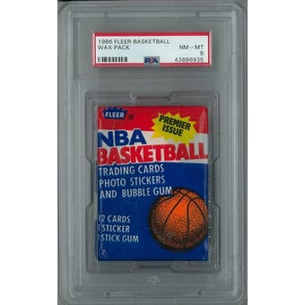 1986/87 Fleer Basketball Wax Pack PSA 8 (NM-MT) *6935
