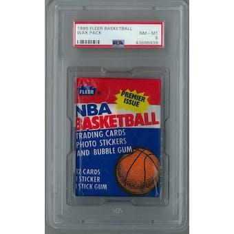 1986/87 Fleer Basketball Wax Pack PSA 8 (NM-MT) *6939