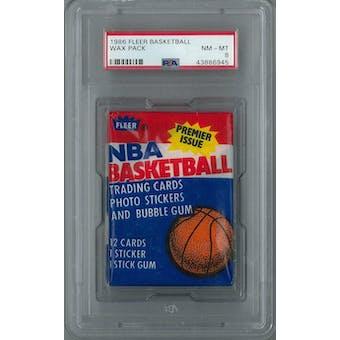 1986/87 Fleer Basketball Wax Pack PSA 8 (NM-MT) *6945