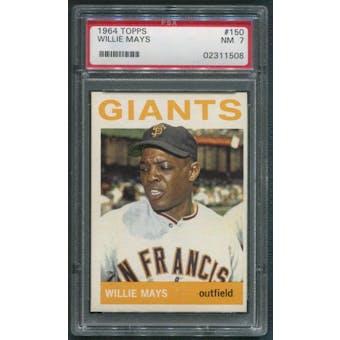 1964 Topps Baseball #150 Willie Mays PSA 7 (NM)