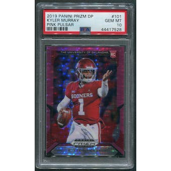 2019 Panini Prizm Draft Picks #101 Kyler Murray Prizms Pink Pulsar Rookie PSA 10 (GEM MT)