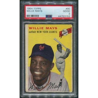 1954 Topps Baseball #90 Willie Mays PSA 2 (GOOD)