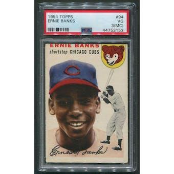 1954 Topps Baseball #94 Ernie Banks Rookie PSA 3 (VG) (MC)