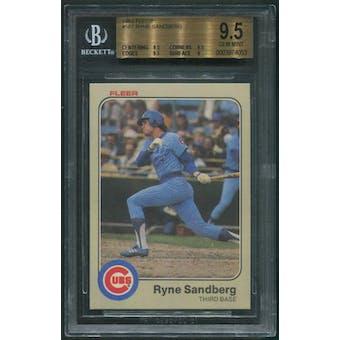 1983 Fleer Baseball #507 Ryne Sandberg Rookie BGS 9.5 (GEM MINT)