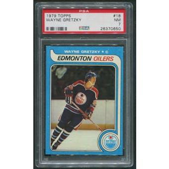 1979/80 Topps Hockey #18 Wayne Gretzky Rookie PSA 7 (NM)