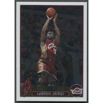 2003/04 Topps Chrome Basketball #111 LeBron James Rookie (Creased)