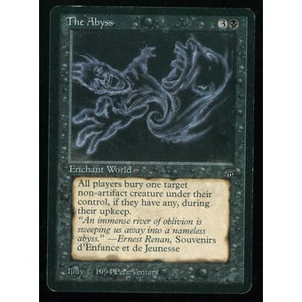 Magic the Gathering Legends Single The Abyss - MODERATE PLAY plus (MP+)