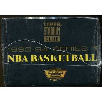 1993/94 Topps Stadium Club Members Only Basketball Series 1 Factory Set