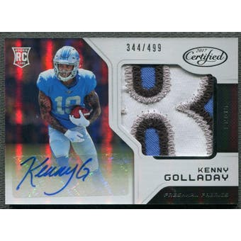 2017 Certified #229 Kenny Golladay Rookie Patch Auto #344/499