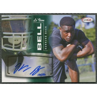 2013 SAGE #5 LeVeon Bell Green Rookie Auto #15/50