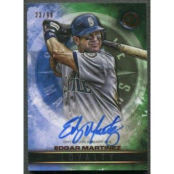 2016 Topps Legacies of Baseball #LAEM Edgar Martinez Loyalty Green Auto #23/99