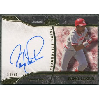 2016 Topps Tier One #PPBL Barry Larkin Prime Performers Auto #50/50