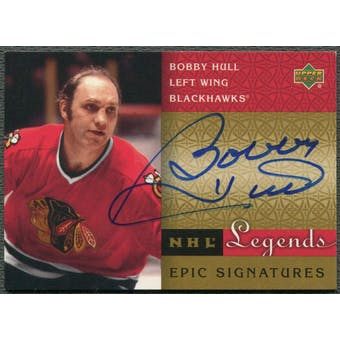 2001/02 Upper Deck Legends #BH Bobby Hull Epic Signatures Auto