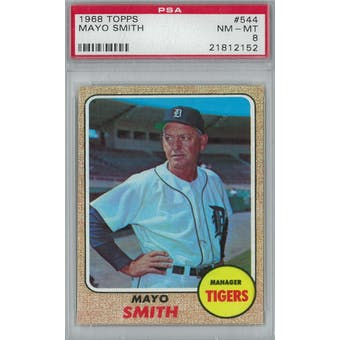 1968 Topps Baseball #544 Mayo Smith PSA 8 (NM-MT) *2152 (Reed Buy)