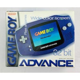 Nintendo Game Boy Advance Launch System Indigo Brand New Sealed