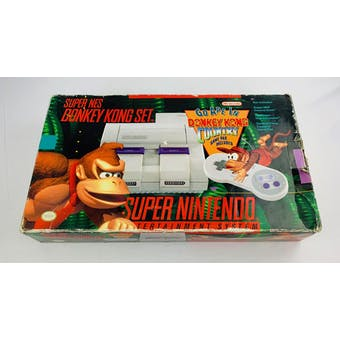 Super Nintendo (SNES) Donkey Kong Set System Boxed Complete