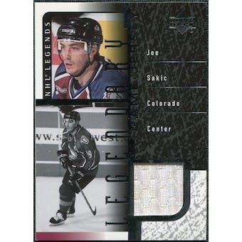 2000/01 Upper Deck Legends Legendary Game Jerseys #JJS Joe Sakic