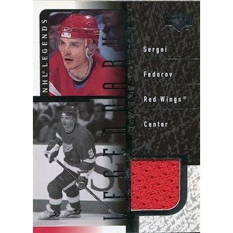 2000/01 Upper Deck Legends Legendary Game Jerseys #JSF Sergei Fedorov