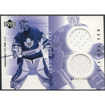2001/02 Upper Deck UD Challenge for the Cup Jerseys #TNCJ Curtis Joseph Dual