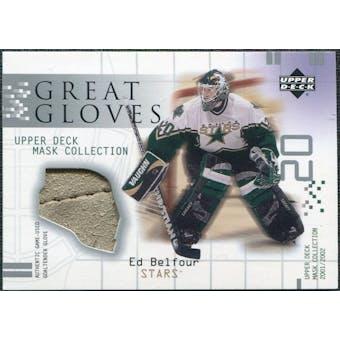 2001/02 Upper Deck UD Mask Collection Gloves #GGEB Ed Belfour