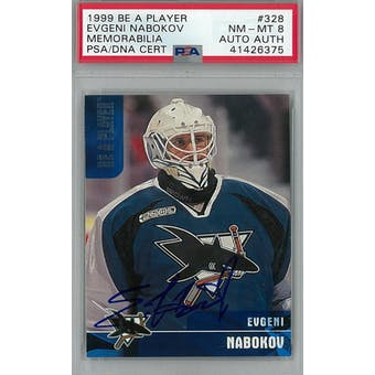 1999/00 Be A Player Memorabilia #328 Evgeni Nabokov RC PSA 8 Auto AUTH *6375 (Reed Buy)