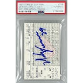 Mike Vernon 97 Stanley Cup Finals Game 4 Stub Autograph PSA AUTH*9998 (Reed Buy)