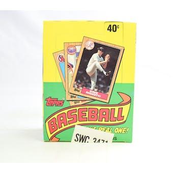 1987 Topps Baseball Wax Box (Sam's Club) (Reed Buy)
