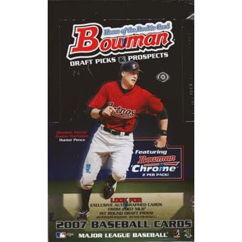 2007 Bowman Draft Picks & Prospects Baseball Hobby Box