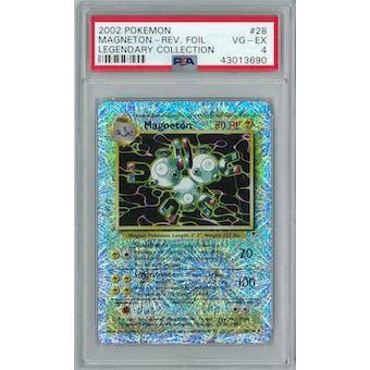 Pokemon Legendary Collection Reverse Foil Magneton 28/110 PSA 4