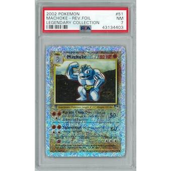 Pokemon Legendary Collection Reverse Foil Machoke 51/110 PSA 7