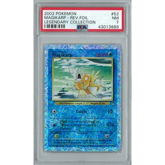 Pokemon Legendary Collection Reverse Foil Magikarp 52/110 PSA 7