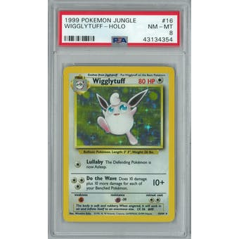 Pokemon Jungle No Set Symbol Error Wigglytuff 16/64 PSA 8