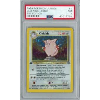 Pokemon Jungle 1st Edition Clefable 1/64 PSA 7